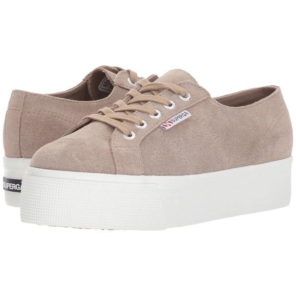 Superga 279 Suede Platform Sneaker Tan